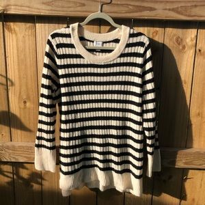 Old Navy Cream and black striped sweater